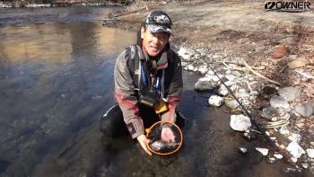 雪残る渓流でヤマメを追う「関東釣りレポートvol.7」